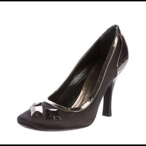 Authentic Burberry Pumps with Jewel Embellishments
